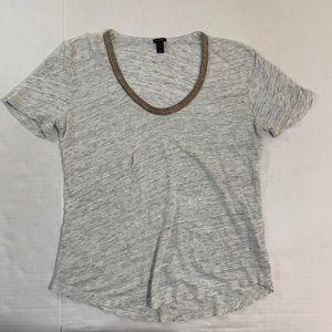 J Crew Linen Tee Shirt Top S